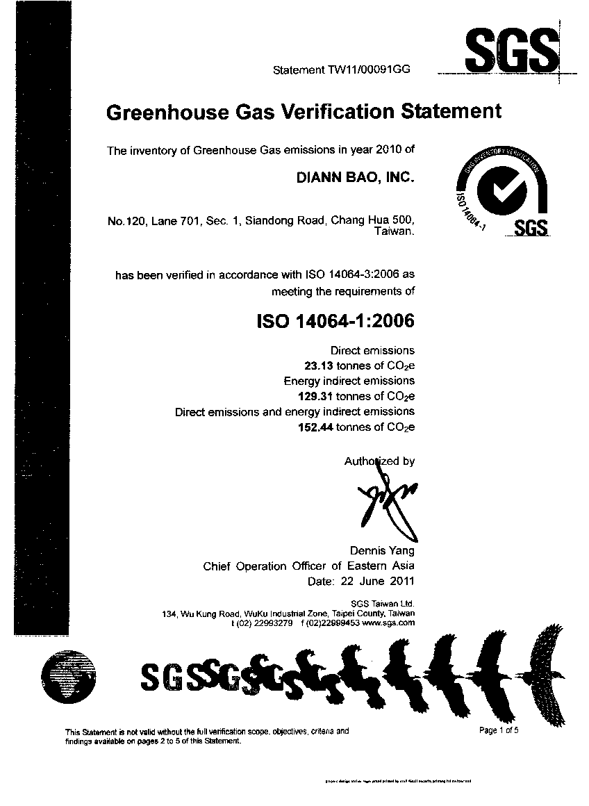 SGS Greenhouse Gas Verification
